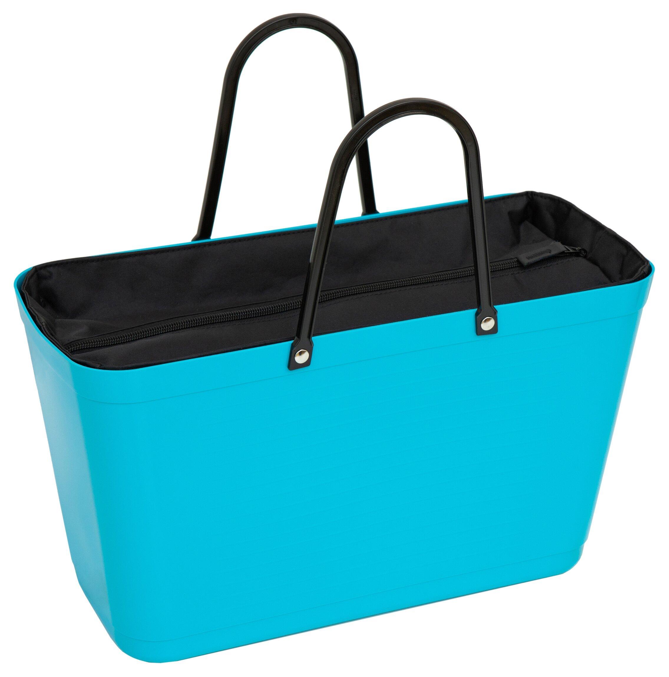 handbagage väska plast svart